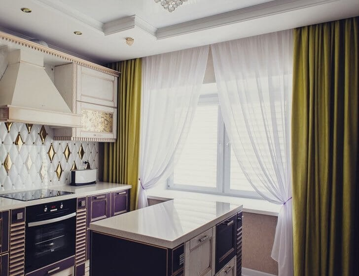 latest trends curtains for kitchen 2021 3