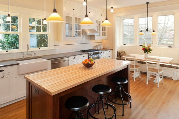 White kitchen black countertop trends 2021 19