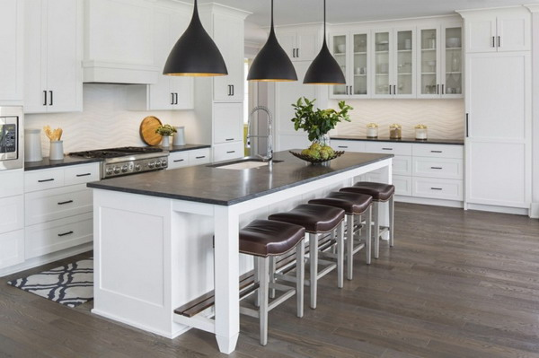 White kitchen black countertop trends 2021 2