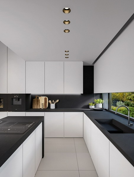 White kitchen black countertop trends 2021 20