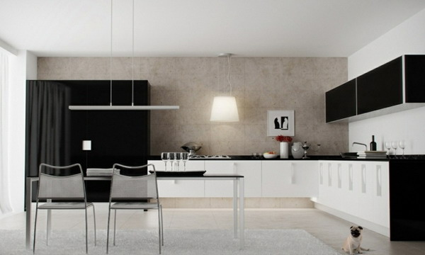 White kitchen black countertop trends 2021 9